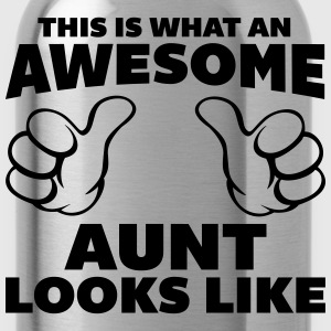 Awesome Aunt Looks Like T-Shirts - Water Bottle