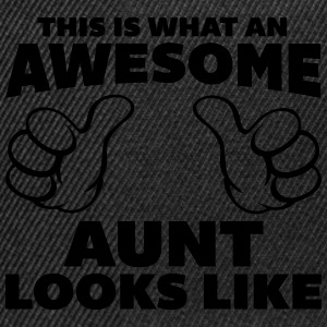 Awesome Aunt Looks Like T-Shirts - Snapback Cap