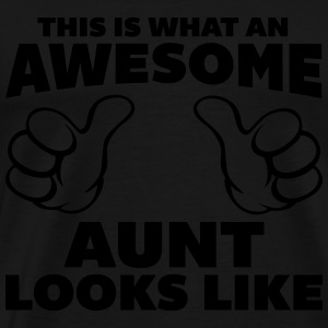 Awesome Aunt Looks Like Sweaters - Mannen Premium T-shirt