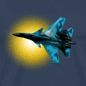 Fighter Su-33 Manga larga - Camiseta premium hombre