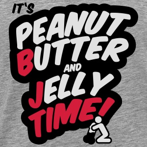 Peanut butter and jelly time, blowjob Toppe - Herre premium T-shirt