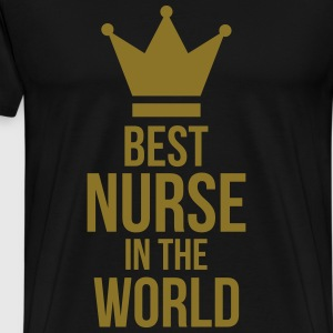 Best Nurse in the World  Aprons - Men's Premium T-Shirt