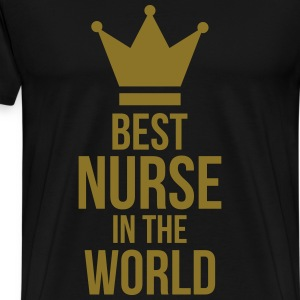 Best Nurse in the World Forklær - Premium T-skjorte for menn