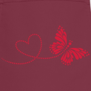 Butterfly in Love, Heart, Spring, Valentine's Day, - Cooking Apron