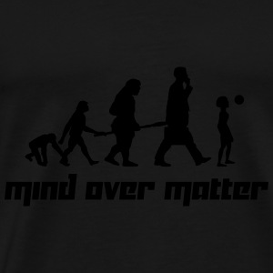 Mind over Matter (Vector) - Men's Premium T-Shirt