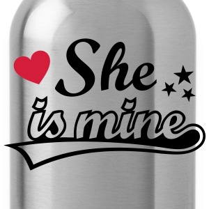 She's mine Amo a mi novia love girlfriend Amor   Camisetas - Cantimplora