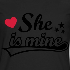 She's mine Amo a mi novia love girlfriend Amor   Camisetas - Camiseta de manga larga premium hombre