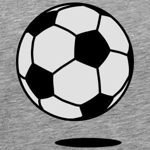 football with shadow / ball with shadow 2c Långärmade T-shirts - Premium-T-shirt herr