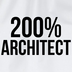 200% Architect T-Shirts - Drawstring Bag