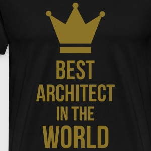 Best Architect in the World  Aprons - Men's Premium T-Shirt