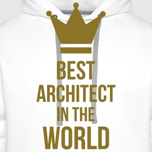Best Architect in the World Felpe - Felpa con cappuccio premium da uomo