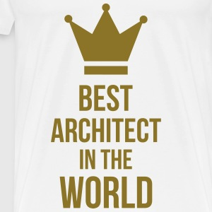 Best Architect in the World Hoodies - Men's Premium T-Shirt