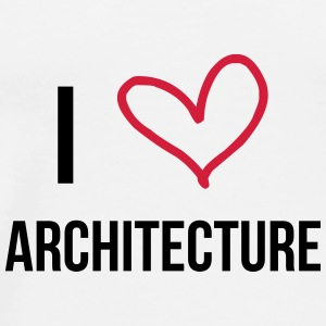 I Love Architecture Mugs & Drinkware - Men's Premium T-Shirt