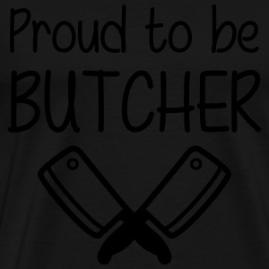 Proud to be Butcher Forklæder - Herre premium T-shirt