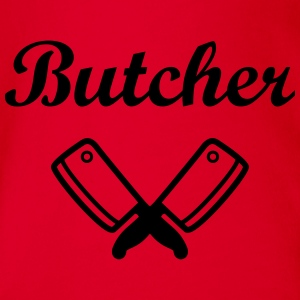 Butcher Shirts - Organic Short-sleeved Baby Bodysuit