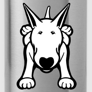 Bull Terrier Sprawl Kids Hoodie - Water Bottle