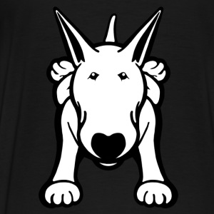 Bull Terrier Sprawl Kids Hoodie - Men's Premium T-Shirt