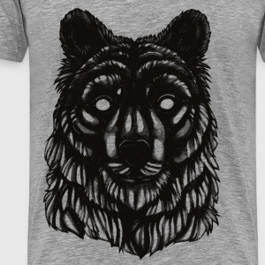 Bear - Black & White Tops - Männer Premium T-Shirt