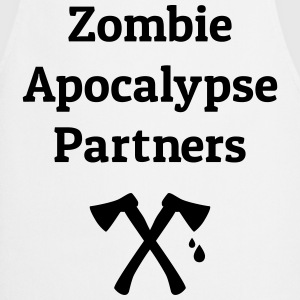 zombie apocalypse partners T-Shirts - Cooking Apron