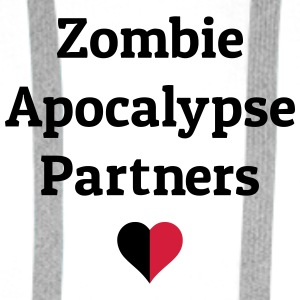 zombie apocalypse partners Bags & Backpacks - Men's Premium Hoodie