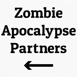 zombie apocalypse partners Bags & Backpacks - Men's Premium Longsleeve Shirt