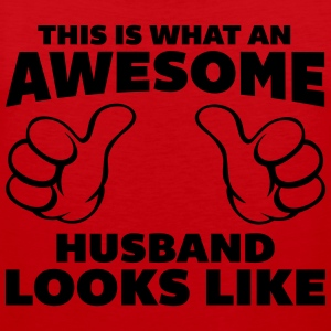 Awesome Husband Looks Like T-Shirts - Men's Premium Tank Top