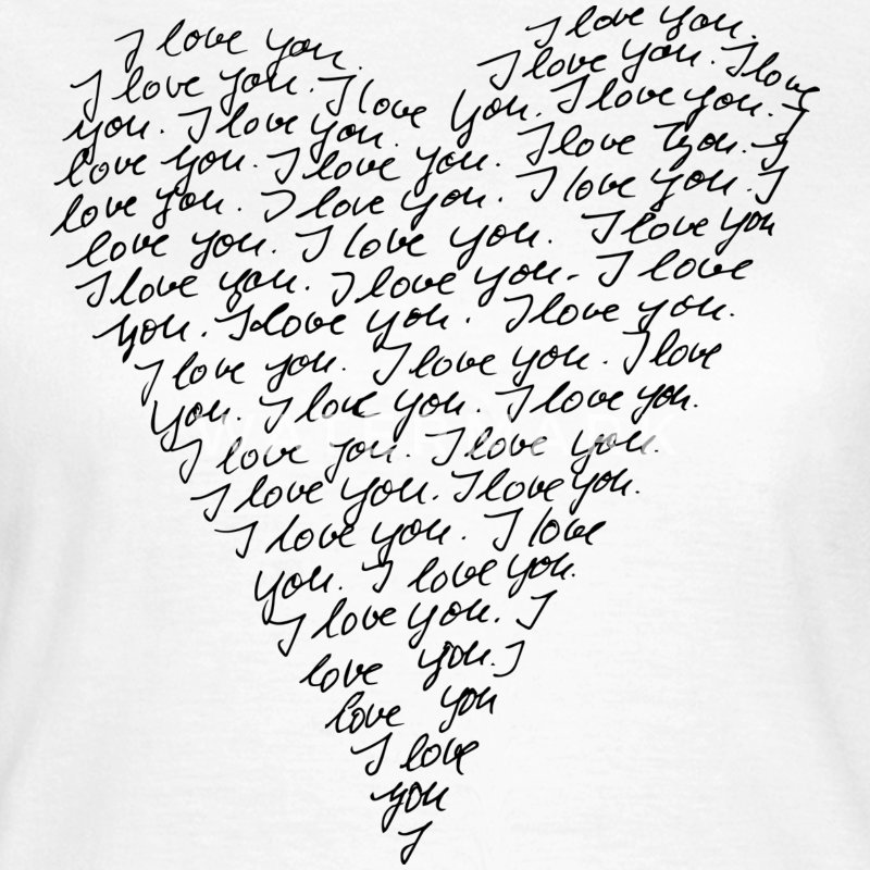 I love you! Heart, Forever, Infinity, Valentine's Day,  T-shirts - Dame-T-shirt