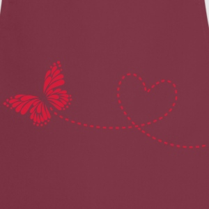 Butterfly, Heart, Love, Spring, Valentine's Day,   - Cooking Apron