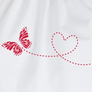 Butterfly, Heart, Love, Spring, Valentine's Day,  Long Sleeve Shirts - Drawstring Bag