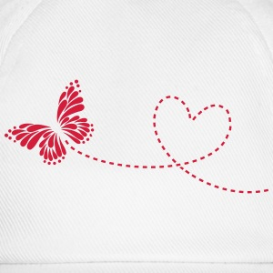 Butterfly, Heart, Love, Spring, Valentine's Day,  Long Sleeve Shirts - Baseball Cap