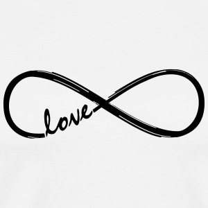 Forever Love! Infinity Loop, Eternal Knot, Valentine's Day,  Long Sleeve Shirts - Men's Premium T-Shirt