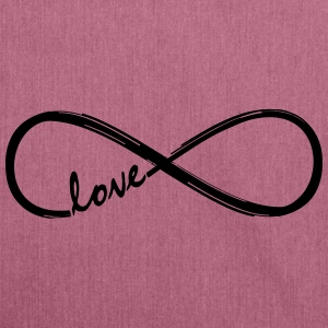 Forever Love! Infinity Loop, Eternal Knot, Valentine's Day,  T-Shirts - Shoulder Bag made from recycled material