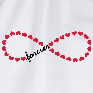 Forever Love! Infinity, Heart, Valentine's Day,  Long Sleeve Shirts - Drawstring Bag