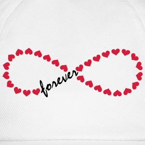 Forever Love! Infinity, Heart, Valentine's Day,  Long Sleeve Shirts - Baseball Cap