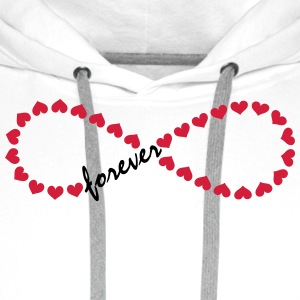 Forever Love! Infinity, Heart, Valentine's Day,  Long Sleeve Shirts - Men's Premium Hoodie