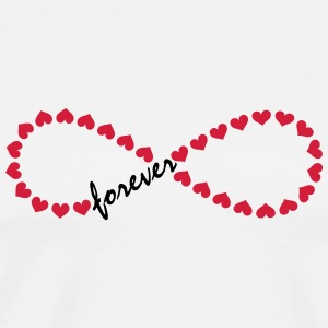 Forever Love! Infinity, Heart, Valentine's Day,  Long Sleeve Shirts - Men's Premium T-Shirt