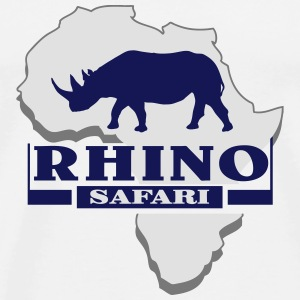 Rhino - Rhinoceros - Africa Tops - Men's Premium T-Shirt