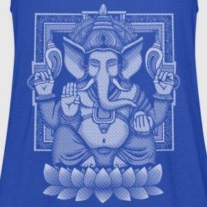 Ganesh White Halftone T-Shirts - Women's Tank Top by Bella