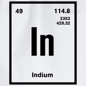 Indium Element im Periodensystem T-Shirts - Turnbeutel