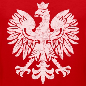 Polish Flag Eagle T-Shirts - Men's Premium Tank Top