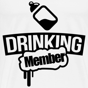 Milk bottle drinking member Hoodies - Men's Premium T-Shirt