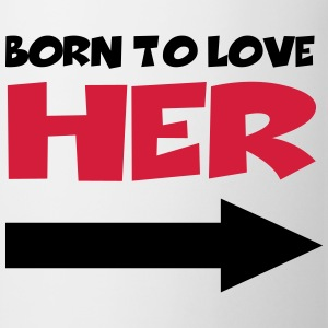 Born to love her T-Shirts - Mug