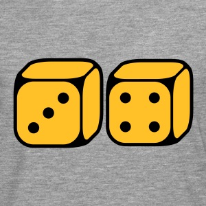 Dices With Number 3 and 4 (2C) T-Shirts - Men's Premium Longsleeve Shirt