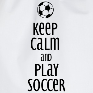 keep calm and play soccer Gensere - Gymbag