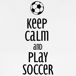 keep calm and play soccer Gensere - Baseballcap