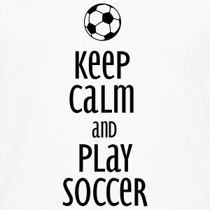 keep calm and play soccer Gensere - Premium langermet T-skjorte for menn