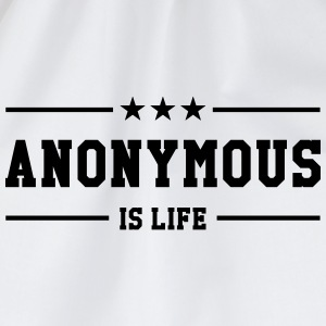 Anonymous is life Caps & Hats - Drawstring Bag