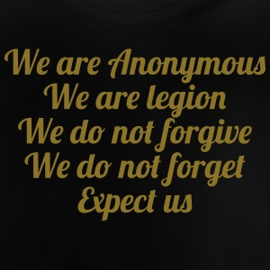 Anonymous T-shirts - Baby-T-shirt