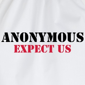 Anonymous : Expect us T-shirts - Gymnastikpåse