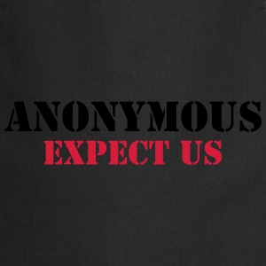 Anonymous : Expect us T-shirts - Förkläde